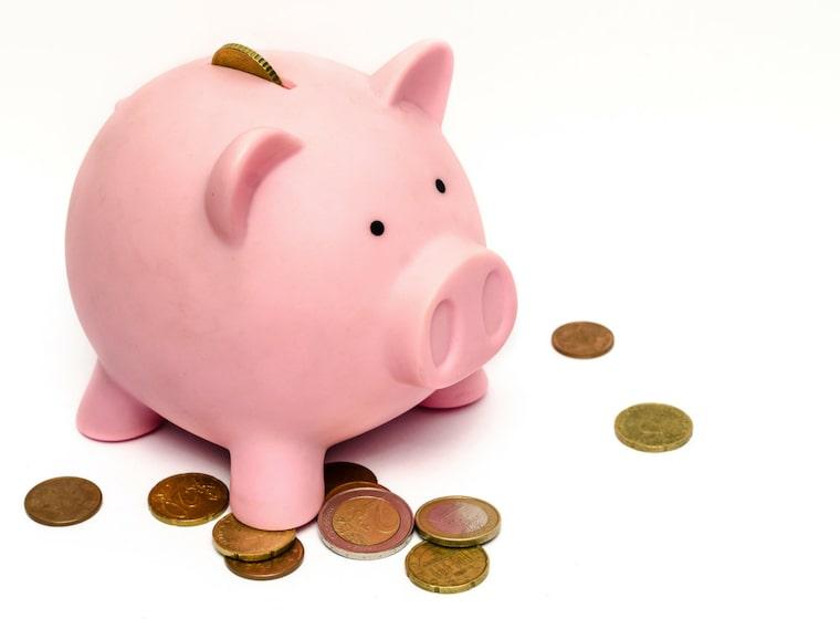 信用金庫の給料を貯金箱に貯める
